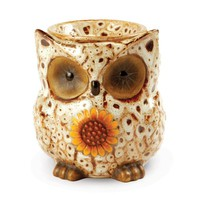 OWL SPOTTED WHITE FRAGRANCE WARMER - WAX MELTER by AmbiEscents
