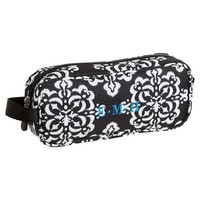 Gear-Up Ikat Medallion Pencil Case, Black