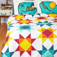 ModCloth Folk Art Quilt for the Day Duvet Cover in Twin, Twin XL