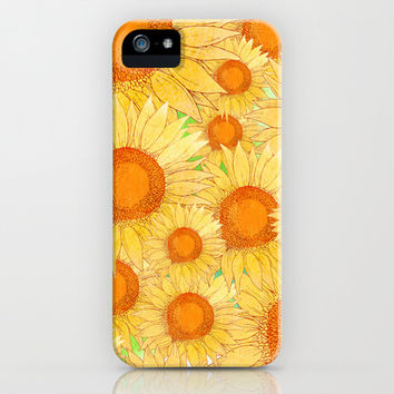 Sunflowers iPhone & iPod Case by Sara Eshak