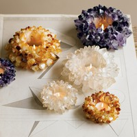 Quartz Tealight Holders - VivaTerra