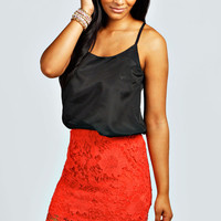Primrose All Over Crochet Mini Skirt