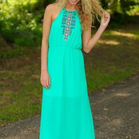 Spirit Of Summer Maxi Dress-Jade