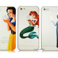 Frozen Elsa Princess Snow White Ariel Mermaid Case For Phone iPhone 4 4S 5 5S