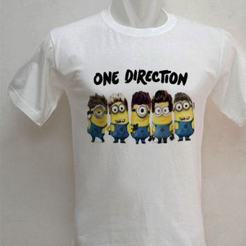 custom one direction minion, Hoodie Girl, Awesome Hoodie, T shirt, T shirt Girl, T shirt Mens, Funny Hoodie, Funny T shirt