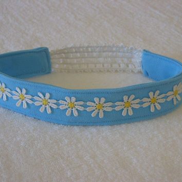 Aqua Beach Daisy Headband