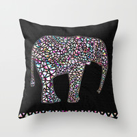 Elephant Throw Pillow by Ornaart