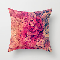Roses Throw Pillow by Msimioni