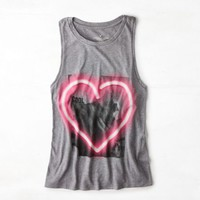 's Neon Heart Graphic Tank (Scrimmage Heather)