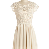 ModCloth Cap Sleeves A-line All in Awe Dress