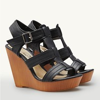 Buckled Interlock Platform Wedge