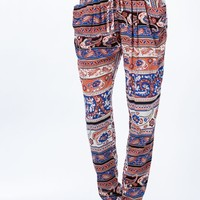 Ornate Paisley Print Harem Pants