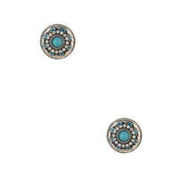 Shimmering Circle Stud Earrings | FOREVER21 - 1017305868