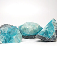 Blue Topaz Geode Shaped Soap Set