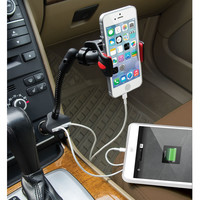 The Dual iPhone Charging Car Mount