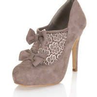 Seal Mocha Crochet Town Shoe - Miss Selfridge