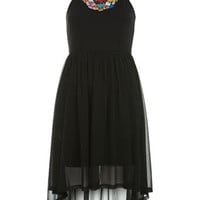 Petites Bright Beaded Dress - Dresses - Clothing - Miss Selfridge