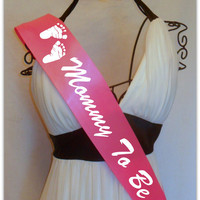 Mommy To Be Baby Shower Sash by TheCraftyVixen on Etsy
