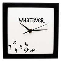 WHATEVER CLOCK | Wall Novelty Clock | UncommonGoods