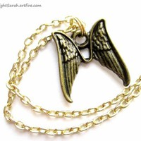 Pair of Angel Wings Anklet (Ankle Bracelet) with Angel Wings Charm