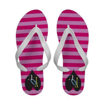 Loving you Stripes Flip Flops