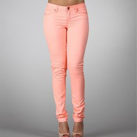 Neon Orange Skinny Jeans