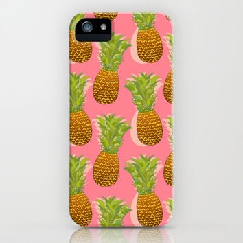 Pineapple Pop Art Pattern on Pink iPhone & iPod Case by Tangerine-Tane