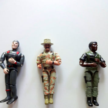 Vintage Lot of 3 GI Joe Action Figures