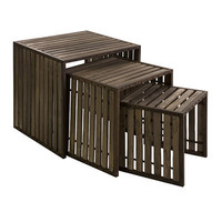 Vermont Iron and Wood Nesting Tables - Set of 3
