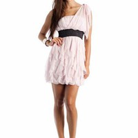 asymmetrical tiered ruffle formal $59.99 in BLACK BLUSH - New Formals | GoJane.com