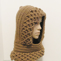 Hooded Cowl with ribbing by ReeniesCrochet