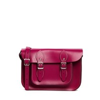 The Leather Satchel Company 11'' Boysenberry Satchel