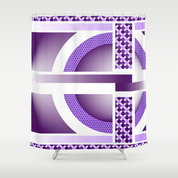 Purple Dots Shower Curtain by Ramon Martinez Jr