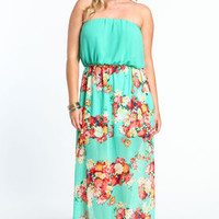 Plus Size Chained Floral Garden Maxi Dress - LoveCulture