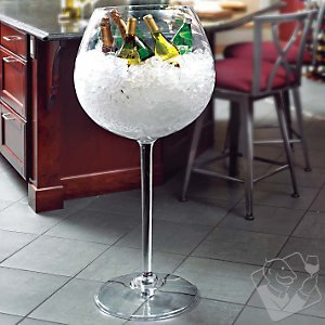 Giant Red Wine Stem Cooler - Wine Enthusiast