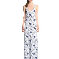 Alternative Women's Printed Side Slit Racerback Maxi Dress