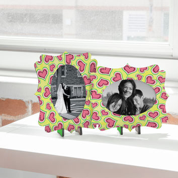 Lisa Argyropoulos Watermelon Love Sunny Yellow Tabletop Frame - Quatrefoil