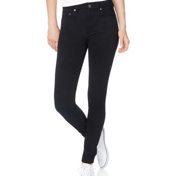 Solid High-Waisted Uniform Jegging