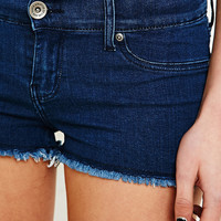 Dr. Denim Janice Shorts in Dark Blue Wash - Urban Outfitters