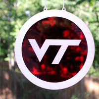 VT Logo Virginia Tech Hokie Suncatcher and Hanging Wall Art