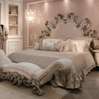 Upholstered fabric double bed ROSALBA Éclectique - Donna Mantellassi Collection by Mantellassi 1926