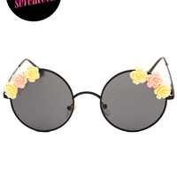 Bandit Floral Sunglasses - Black - One Size / Black