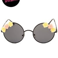 Bandit Floral Sunglasses - Black