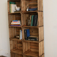 WEEKEND SALE Crate Bookshelf Bookcase by CamilleMontgomery on Etsy