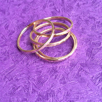 Gold 14K Gold Filled Stacking Rings Handmade Jewelry Stack Ring