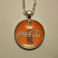 Coca Cola Glass Tile Pendant