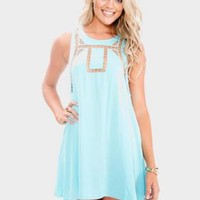 Cyan Cut out Mini Dress