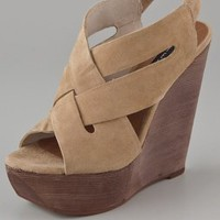 Steven Banndo Suede Wedge Sandals | SHOPBOP