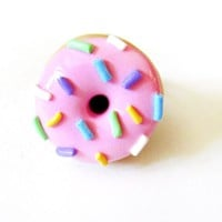 Pink Sprinkle Donut - Available in Earrings and Ring