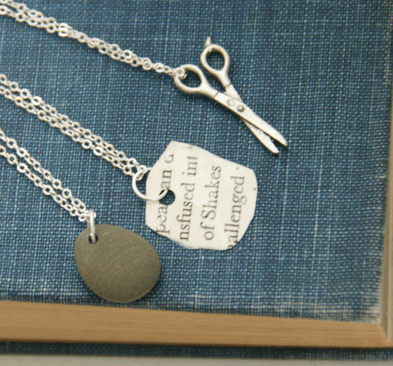 Rock Paper Scissors  Friendship Necklaces by RPSshoot on Etsy